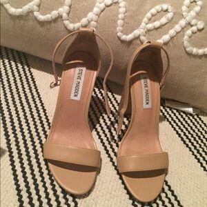 Steve Madden nude block heels.